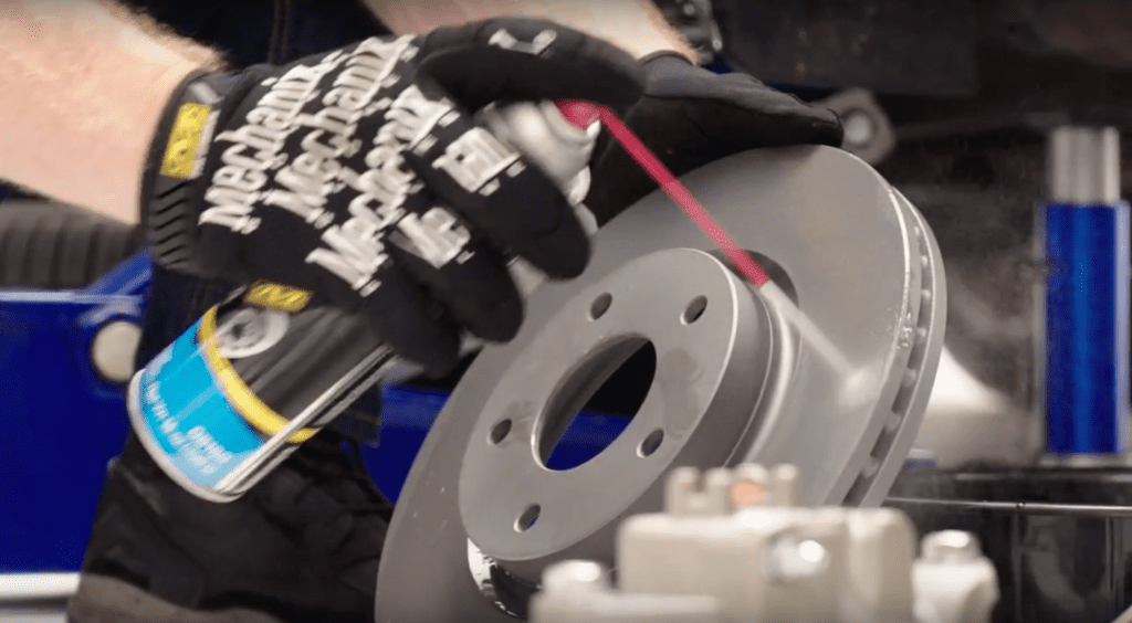 How to change your brakes - clean the rotor