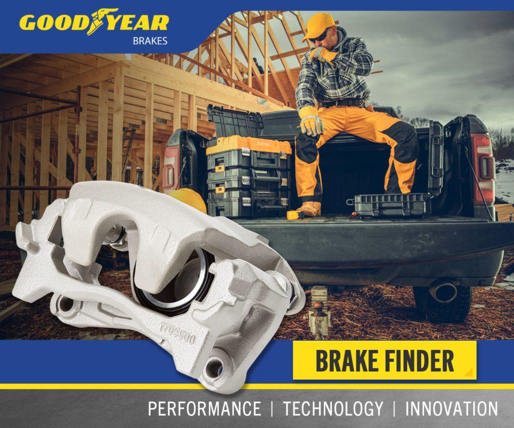 Goodyear Brakes Caliper Graphic