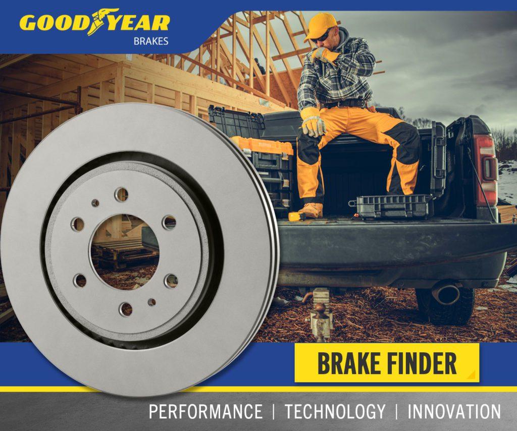Goodyear Brakes Rotor Graphic