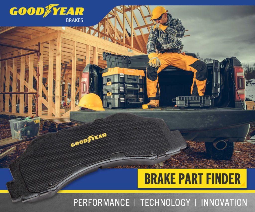 Goodyear Brake Pads Hardworking Graphic